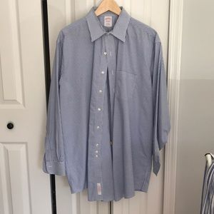 Brooks Brothers blue checkered button down